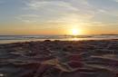 Sonnenuntergang am Strand von Conil de la Frontera (Spanien)