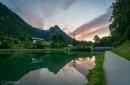 Blick zum Grünstein am Königssee (Berchtsgadener Land)