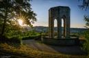 Sonnenuntergang am Kriegerdenkmal (Gernsbach)