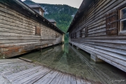 Bootshäuser am Königsse (Berchtsgadener Land)