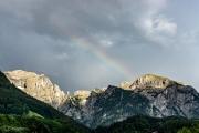 Regebogen über dem hohen Göll (Berchtsgadener Land)